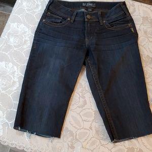 Silver Jean Crops 28 waist